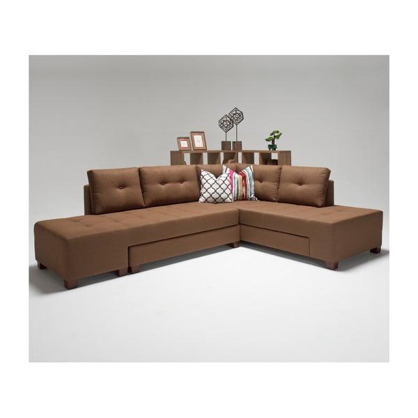 Home Bailey barna kinyitható kanapé, jobb sarok - Balcab