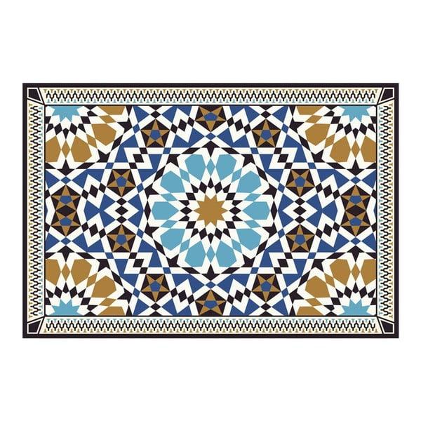 Vinylový koberec Devra Blue, 52x120 cm