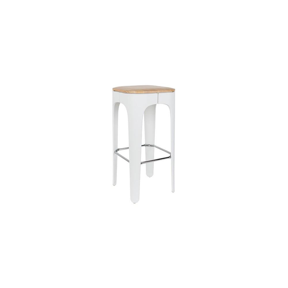 Bílá barová stolička White Label Up-High