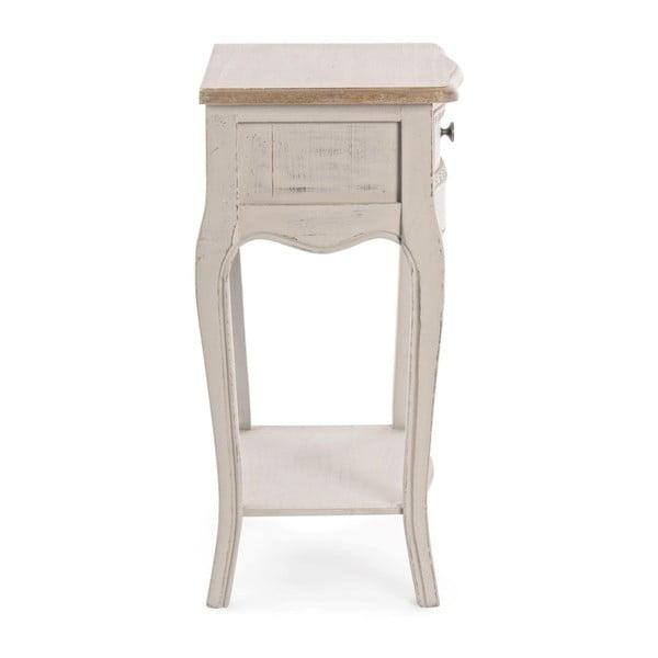 Noční stolek s konstrukcí ze dřeva paulownia a zásuvkou Bizzotto Clarisse