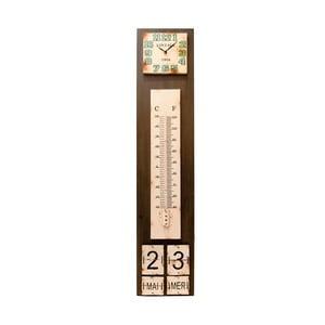 Hodiny s teploměrem a kalendářem Antic Line