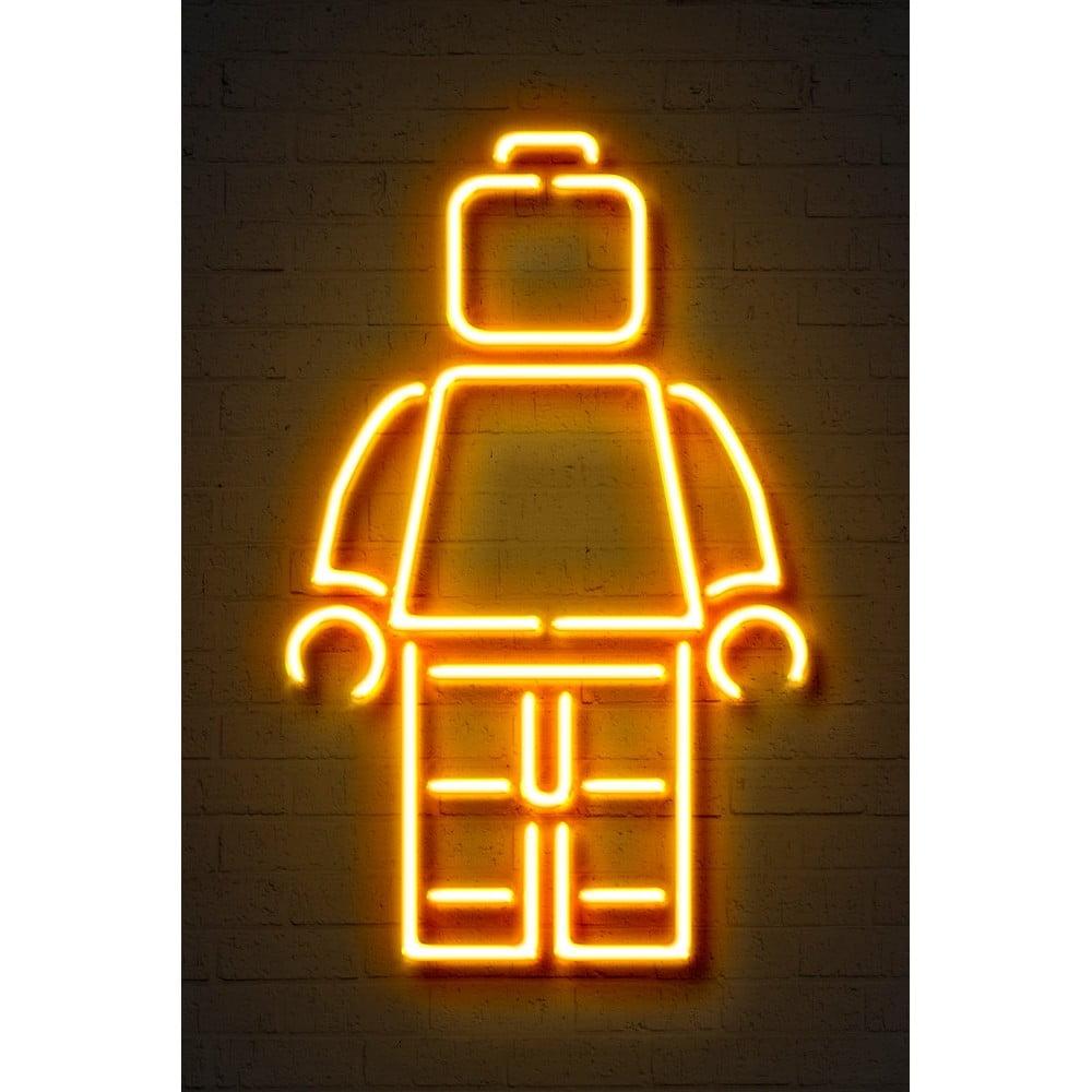 Plakát Blue-Shaker Neon Art Lego, 30 x 40 cm