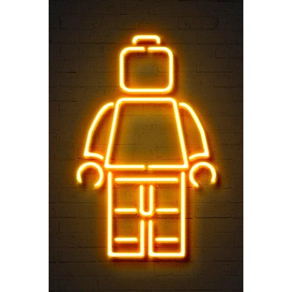 Neon Art Lego poszter, 30 x 40 cm - Blue-Shaker