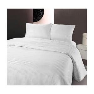 Lenjerie de pat din micropercal Zensation Dallas, 200 x 200 cm, alb
