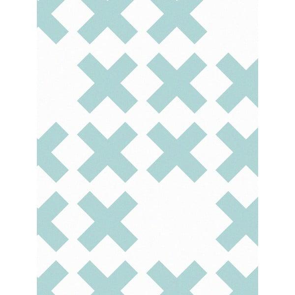 Vliesová tapeta System Blue, 0,53x10,05 m