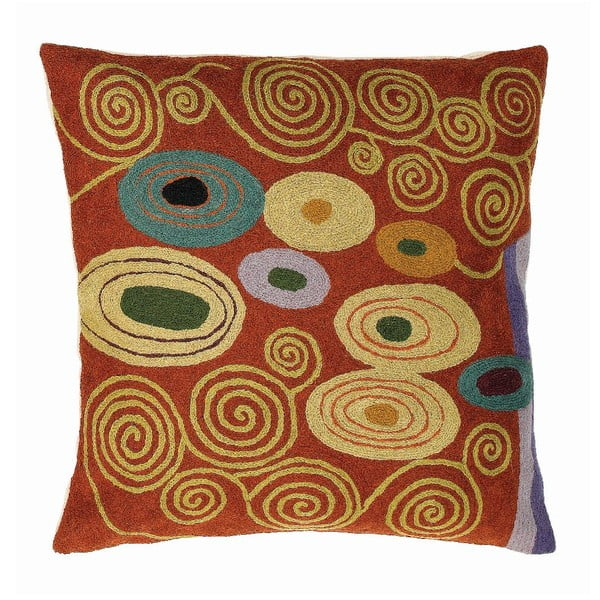 Povlak na polštář Klimt Brown/Green, 45x45 cm