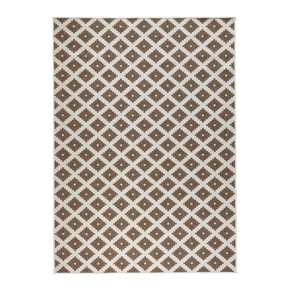 Hnedý vzorovaný obojstranný koberec Bougari Nizza, 160×230 cm