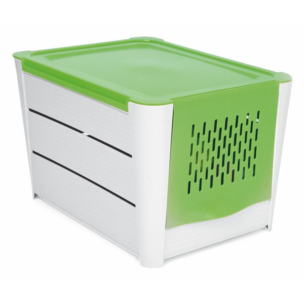 Bílo-zelený úložný box na brambory Snips Potatoes
