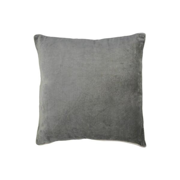 Tmavě šedý bavlněný polštář HSM collection Colorful Living Mira, 45 x 45 cm