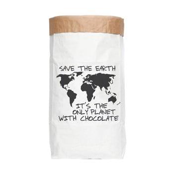 Sac depozitare din hârtie reciclată Really Nice Things Chocolate
