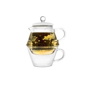 Konvice na sítkem na sypaný čaj a šálkem Bredemeijer Portofino