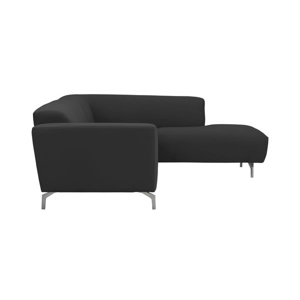 Tmavě šedá rohová pohovka Windsor & Co Sofas Orion, pravý roh