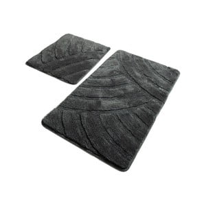 Sada 2 tmavě šedých koupelnových předložek Confetti Bathmats Alya Fume