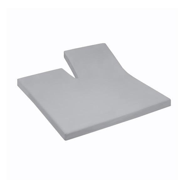 Prostěradlo Split Grey, 180x200 cm