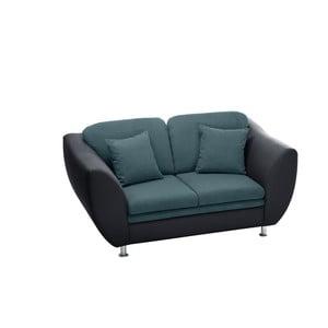 Canapea cu două locuri Florenzzi Maderna Anthracite/Turquoise