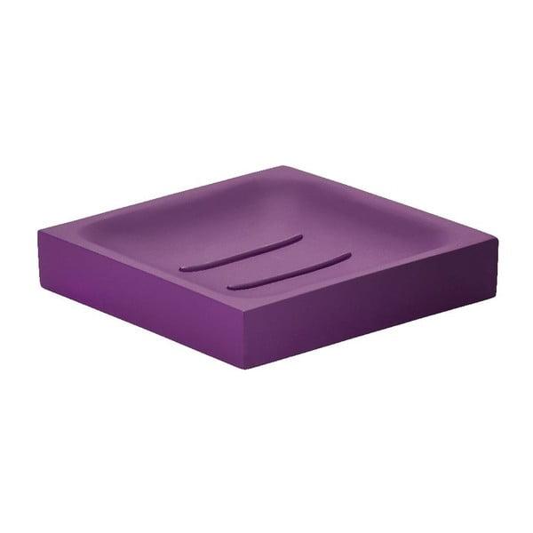 Tácek na mýdlo Cube, fialový
