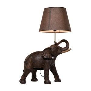 Hnědá stolní lampa Kare Design Safari