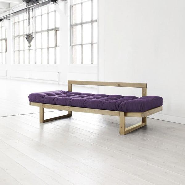 Sofa Edge purple/natural
