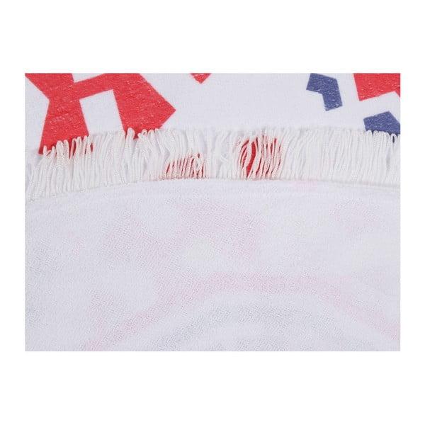 Barevná plážová osuška z bavlny Picky, ⌀ 150 cm