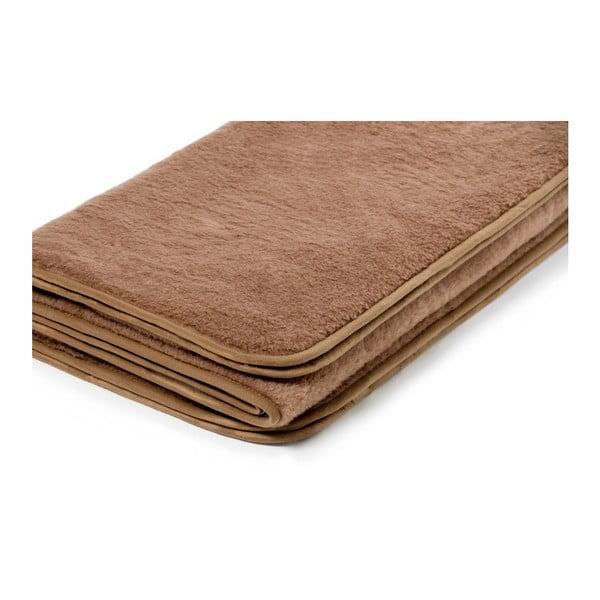 Hnědá deka z velbloudí vlny Royal Dream Chocolate, 140x200 cm