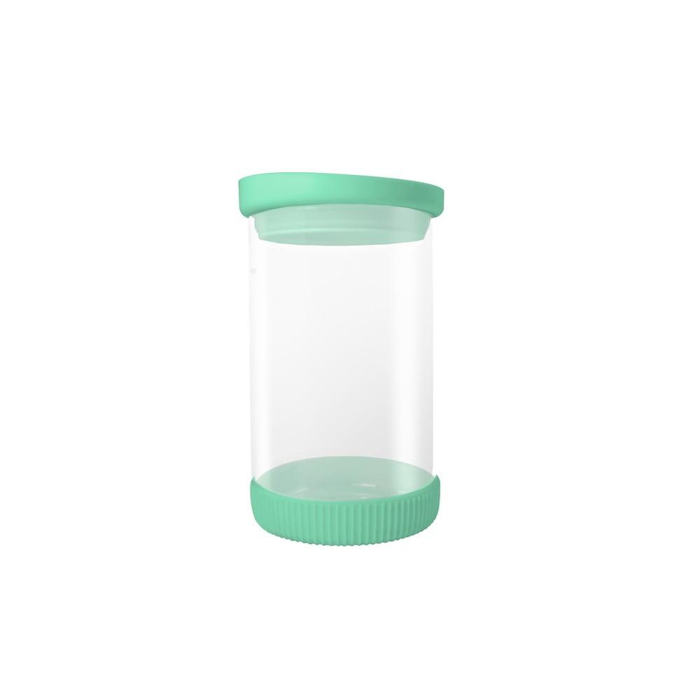 Skleněná dóza se zeleným víkem JOCCA Container, 810 ml