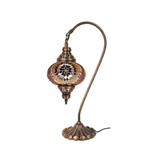 Skleněná ručně vyrobená lampa Fishing Cris, ⌀17 cm