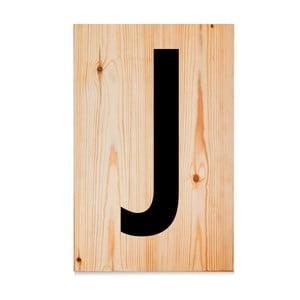 Dřevěná cedule Letters J