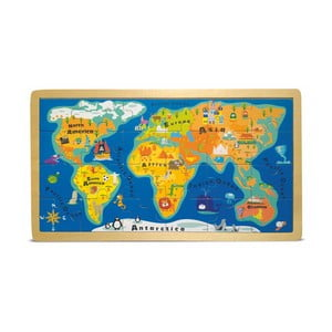 Puzzle cu ramă Legler World Map