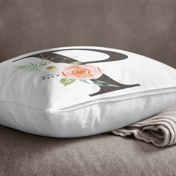 Față de pernă Minimalist Cushion Covers Floral Alphabet P, 45 x 45 cm