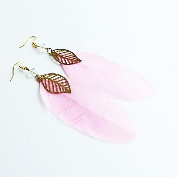 Náušnice Pink Feather