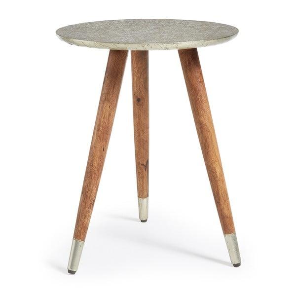 Odkládací stolek s deskou v barvě mosazi La Forma Back