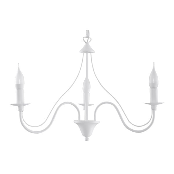 Bílé závěsné svítidlo Nice Lamps Floriano 3