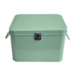 Plechový úložný box Waterquest, tmavě mátový