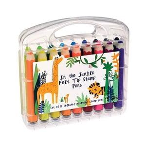 Set 18 markere cu ștampilă Rex London In the Jungle