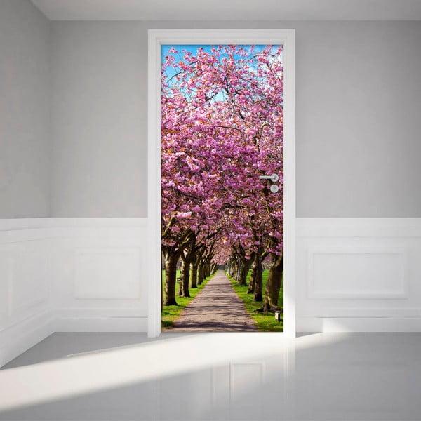 Adhezivní samolepka na dveře Ambiance Blossom Plum Tree