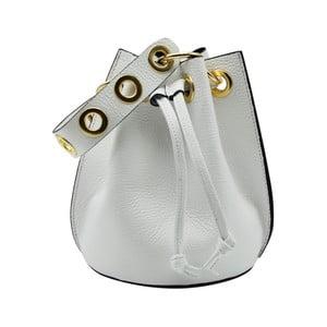 Bílá kabelka z pravé kůže Andrea Cardone Cantaloupe