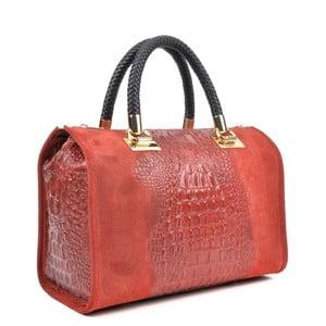 Růžová kožená kabelka Isabella Rhea Kleo Rosso