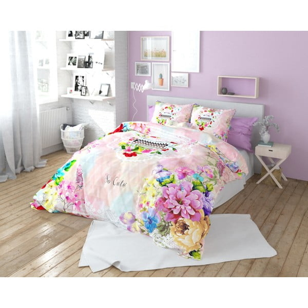 Lenjerie de pat din bumbac Dreamhouse So Cute Isa, 240 x 220 cm