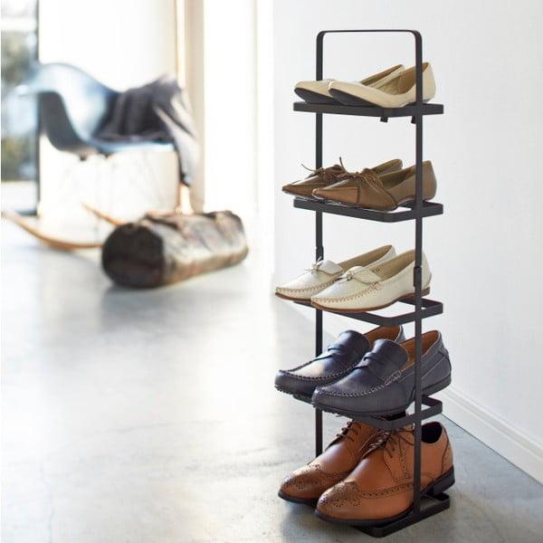 Černý vysoký stojan na boty YAMAZAKI Tower Shoe Rack