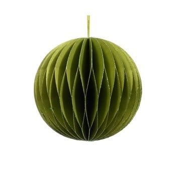Decorațiune din hârtie pentru Crăciun Only Natural, ø 7,5 cm, verde imagine