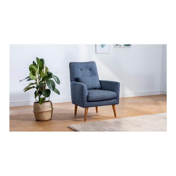 Ciemnoniebieski fotel Pantelis