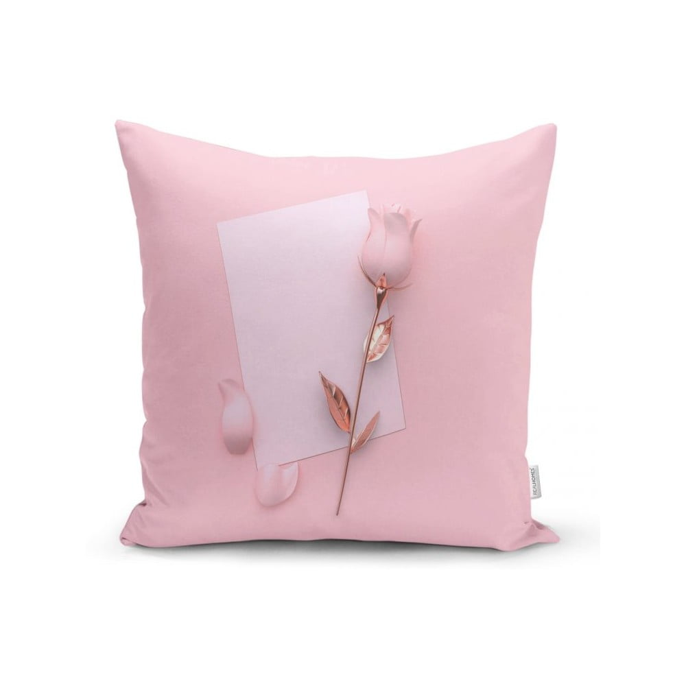 Povlak na polštář Minimalist Cushion Covers Golden Rose With Letter, 45 x 45 cm