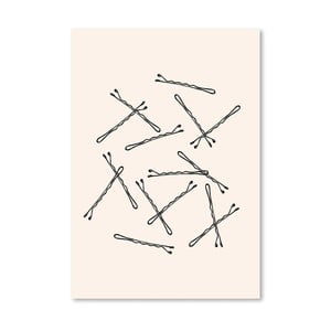 Poster Americanflat Bobby Pins, 30 x 42 cm