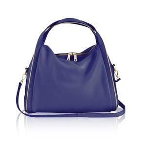 Kožená kabelka Kalisi, modrá