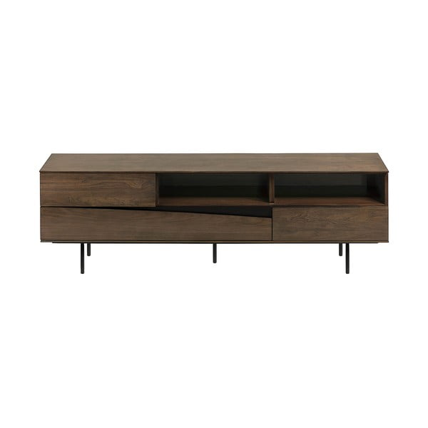 Hnědý TV stolek La Forma Cutt, 180 x 40 cm