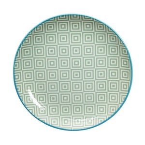 Zelený talíř Tokyo Design Studio Geo Eclectic, 20 cm