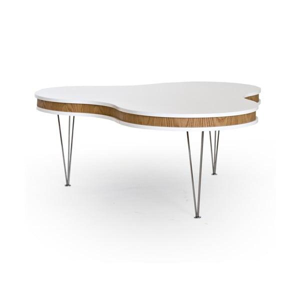 Bílo-hnědý konferenční stolek RGE Hugo Clover