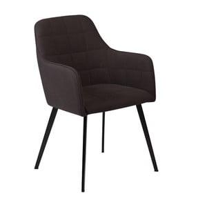 Černá jídelní židle s područkami DAN–FORM Embrace