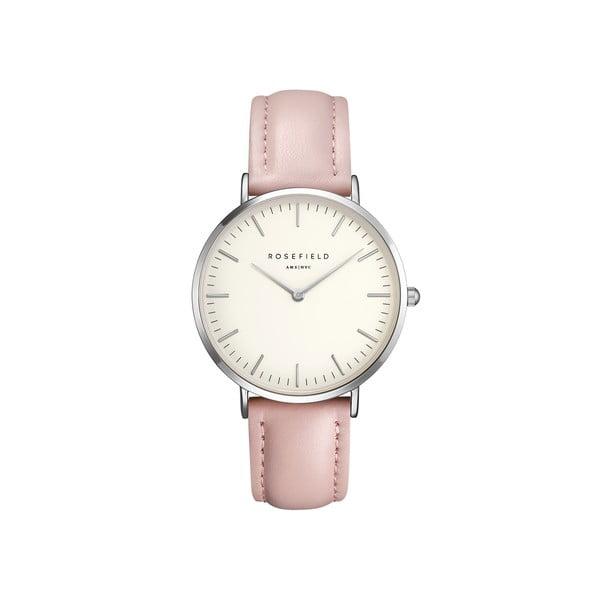 Stříbrnorůžové dámské hodinky Rosefield The Bowery