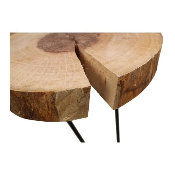 Konferenční stolek z dubu HSM collection Hairpin, 110 x 75 cm